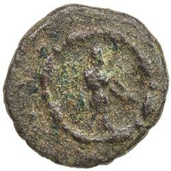 INDO-GREEK: Dionysios, ca. 65-55 BC, AE round 1/2 obol (3.52g). F