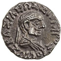 INDO-GREEK: Zoilos II, ca. 55-35 BC, AR drachm (1.83g). EF
