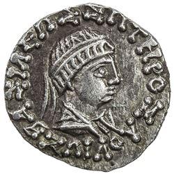 INDO-GREEK: Zoilos II, ca. 55-35 BC, AR drachm (2.33g). EF