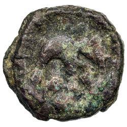 INDO-GREEK: Zoilos II, ca. 55-35 BC, AE round 1/2 obol (3.96g). VF