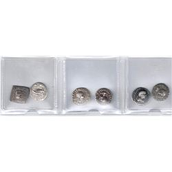 INDO-GREEK: LOT of 6 silver drachms