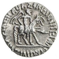 INDO-SCYTHIAN: Azilises, ca. 57-35 BC, AR drachm (2.32g). EF