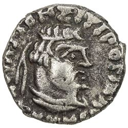 INDO-SCYTHIAN SATRAPS: Rajuvula, ca. 25-15 BC, AR drachm (2.28g). EF