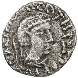 INDO-SCYTHIAN SATRAPS: Bhadrayasha, ca. 100 AD, AR drachm (2.30g). VF-EF