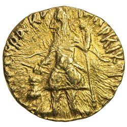 KUSHAN: Kanishka I, ca. 127-152, AV 1/4 dinar (1.98g). EF