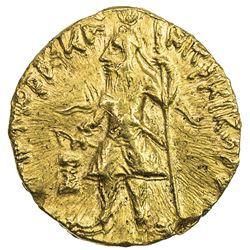 KUSHAN: Kanishka I, ca. 127-152, AV 1/4 dinar (2g). EF