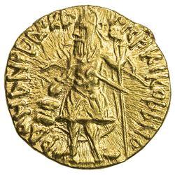 KUSHAN: Kanishka I, ca. 127-152, AV 1/4 dinar (1.99g). EF