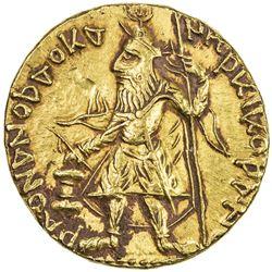 KUSHAN: Kanishka I, ca. 127-151, AV dinar (7.97g). EF-AU