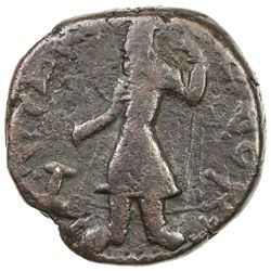 KUSHAN: Kanishka I, ca. 127-151, AE tetradrachm (15.80g). VF