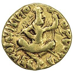 KUSHAN: Huvishka, ca. 155-187, AV 1/4 dinar (1.87g), contemporary imitation, VF