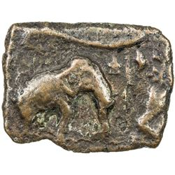 PANDYAS: Anonymous, Sangam age, ca. 200 BC to 200 AD, AE rectangular (6.02g). VF