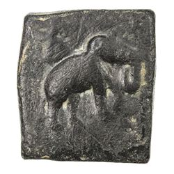 TAXILA: Anonymous, ca. 2nd-1st Century BC, AE square unit (12.11g). EF