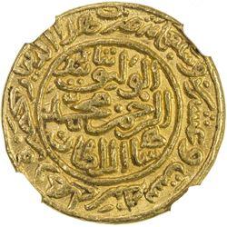 DELHI: Muhammad III b. Tughluq, 1325-1351, AV dinar, Hadrat Delhi, AH726. NGC MS61
