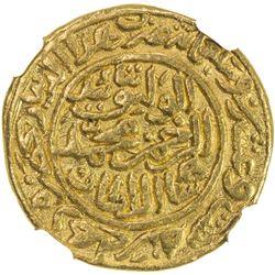 DELHI: Muhammad III b. Tughluq, 1325-1351, AV dinar, Hadrat Delhi, AH726. NGC AU58