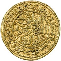 DELHI: Muhammad III b. Tughluq, 1325-1351, AV dinar (12.81g), Hadrat Delhi, AH726. VF-EF