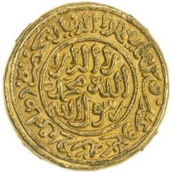 DELHI: Muhammad III b. Tughluq, 1325-1351, AV dinar, Hadrat Delhi, AH726. NGC MS62