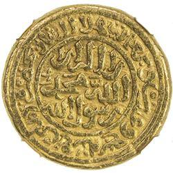 DELHI: Muhammad III b. Tughluq, 1325-1351, AV dinar, Hadrat Delhi, AH727. NGC AU55