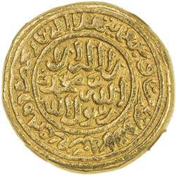 DELHI: Muhammad III b. Tughluq, 1325-1351, AV dinar, Hadrat Delhi, AH728. NGC AU55