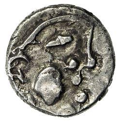 SIND: Prachandendra, ca. 7th century, AR damma (0.51g). VF-EF