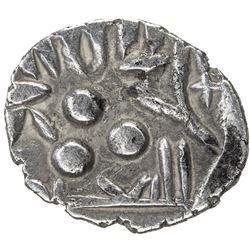 AMIRS OF MULTAN: Jalam II, ca. 830-840, AR damma (0.61g). EF