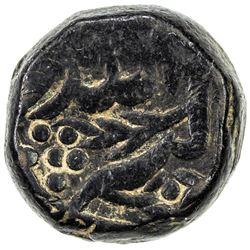 MUGHAL: Akbar I, 1556-1605, AE dam (20.18g), Tatta, ND. VF