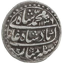 MUGHAL: Muhammad Shah, 1719-1748, AR nazarana rupee (11.39g), Peshawar, AH1136 year 6. VF