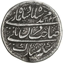 MUGHAL: Muhammad Shah, 1719-1748, AR nazarana rupee (10.1g), Shahjahanabad, AH1142 year 13. VF