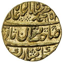 MUGHAL: Muhammad Shah, 1719-1748, AV mohur (10.87g), Shahjahanabad (Delhi), AH1152 year 22. EF