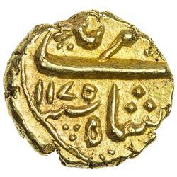 MUGHAL: Alamgir II, 1754-1759, AV pagoda (3.32g), Imtiyazgarh, AH1175. EF