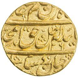 AWADH: Amjad Ali Shah, 1842-1847, AV ashrafi (11.72g), Lucknow, AH1261 year 4. EF