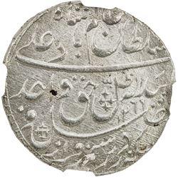 AWADH: Wajid Ali Shah, 1847-1858, AR rupee, Lucknow, AH1269 year 6. NGC MS65