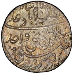 AWADH: Wajid Ali Shah, 1847-1858, AR rupee, Lucknow, AH1269 year 6. PCGS MS63