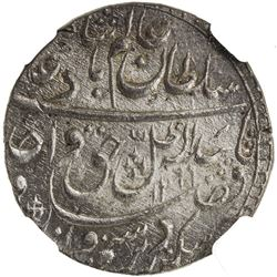AWADH: Wajid Ali Shah, 1847-1858, AR rupee, Lucknow, AH1269 year 6. NGC MS63