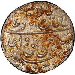AWADH: Wajid Ali Shah, 1847-1858, AR rupee, Lucknow, AH1269 year 6. PCGS MS62