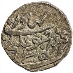 CAMBAY: Jafar Ali Khan, 1880-1915, AR rupee (11.53g), Khanbayat, AH1315. AU