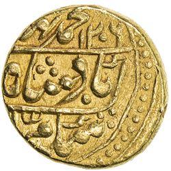 JAIPUR: AV mohur (10.82g), Sawai Jaipur, AH1206 (sic) year 6. VF