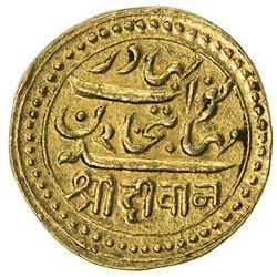 JUNAGADH: Mahabat Khan II, 1851-1882, AV kori (4.68g), AH1294/VS1934. EF