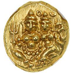 MYSORE: Krishna Raja Wodeyar, 1799-1868, AV pagoda. NGC MS65