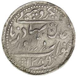 RADHANPUR: Zorawar Khan, 1825-1874, AR rupee (11.37g), Radhanpur, 1872//AH1289. EF