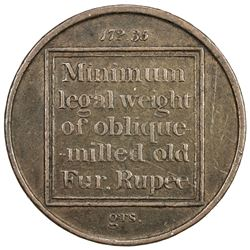 BENGAL PRESIDENCY: AE coin weight (11.11g), ND