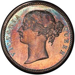 BRITISH INDIA: Victoria, Queen, silver pattern restrike rupee, 1849, PCGS PF66 (Proof 66)