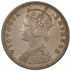 BRITISH INDIA: Victoria, Empress, 1876-1901, AR 1/4 rupee, 1894-B. PCGS AU58
