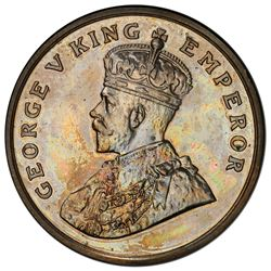 BRITISH INDIA: George V, 1910-1936, 8 annas, 1919(b). PCGS PF63