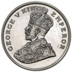 BRITISH INDIA: George V, 1910-1936, 8 annas, 1920(b). PF