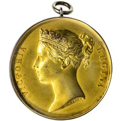 BRITISH INDIA: Victoria, Queen, 1837-1876, gilt AR medal, 1848. UNC