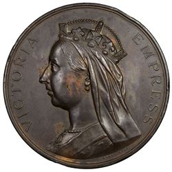BRITISH INDIA: Victoria, Empress, 1876-1901, AE medal (254.7g), 1883-4. EF