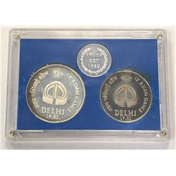 INDIA: Republic, Proof Set (2 pieces), 1982. PF