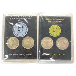 INDIA: Republic, Unc Collector's Pack (2 pieces), 1996 & 1997. UNC