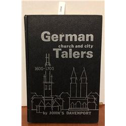 Davenport, John S. German Church and City Talers, 1600-1700