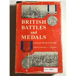Gordon, Maj. Lawrence L. British Battles and Medals